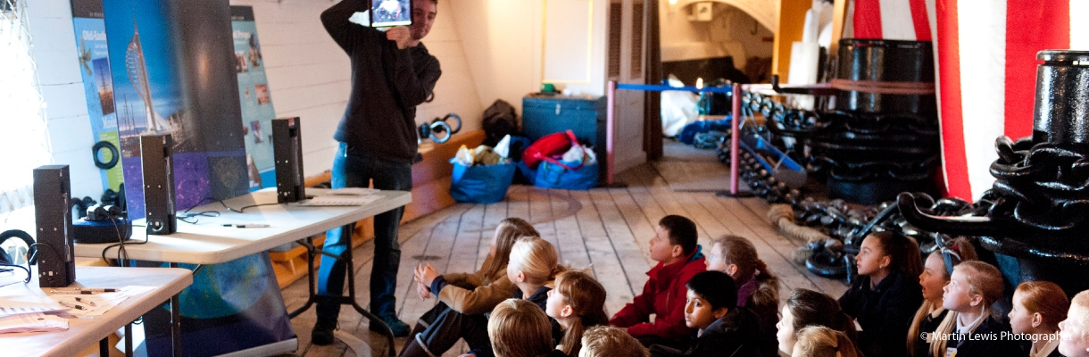 Discovery Visits on HMS Warrior
