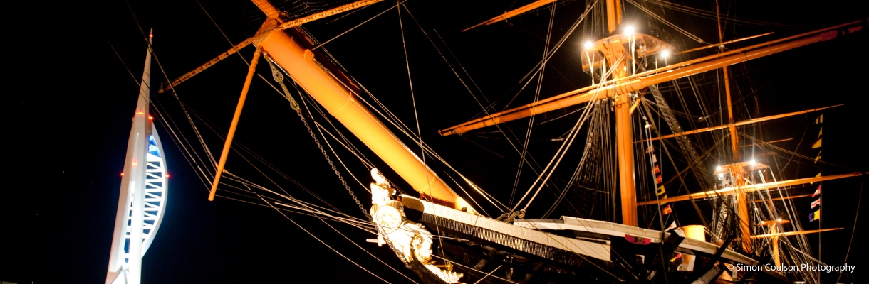 HMS Warrior at Night