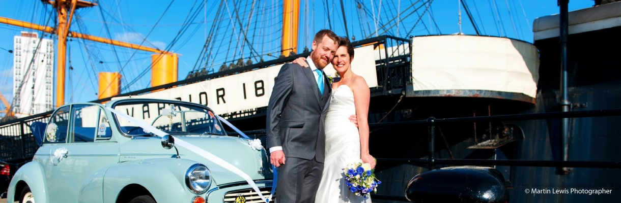 Wedding's on HMS Warrior