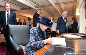 HRH Princess Alexandra Visits HMS Warrior